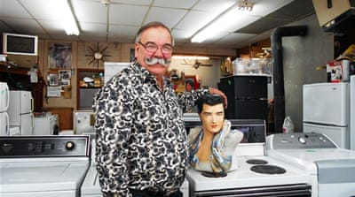 Daniel Cote is a store owner and Elvis Presley fan who has done business in Cuba since meeting Raul Castro [Andreane Williams/Al Jazeera]
