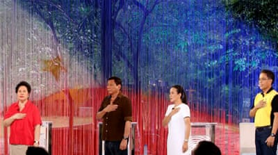 Philippine presidential hopefuls battle in debate