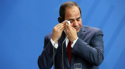 Sisi has been facing mounting criticism in recent months over a faltering economy and widespread reports of police abuses [Getty]