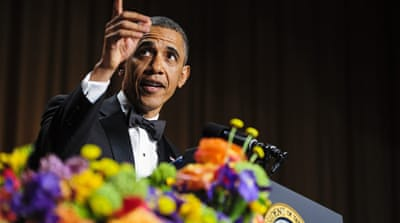 US President Barack Obama will perform at his final dinner of The White House Correspondents' Association on April 30 [Pete Marovich/EPA]