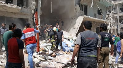 The areas affected by the attacks included Bustan al-Qasr, Bab al-Hadeed, al-Koba and several others [Al Jazeera]