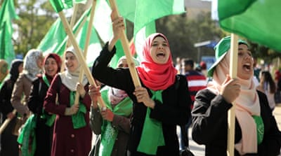 Dominant issues in the student elections included women's political participation and the long-standing rivalry between Hamas and Fatah [Eloise Bollack/Al Jazeera]