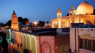 A general view of the Julfa neighbourhood and the Vank cathedral in the historic city of Isfahan [AFP]