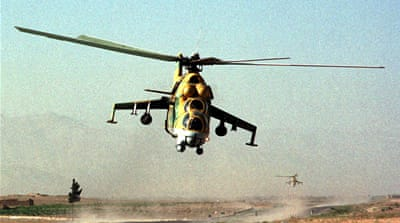 Russian helicopter gunships have become increasingly employed in open-ground battles with ISIL [Reuters]