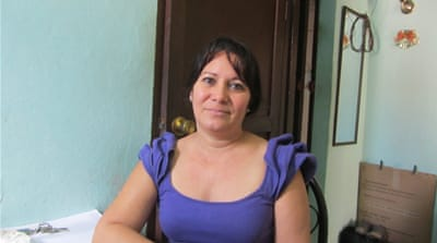 Laura Pollan, 48, daughter and namesake of the leader of Cuba's Damas de Blanco protest movement [Tim MacGabhann/Al Jazeera]
