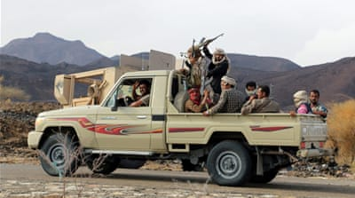 The Yemeni soldiers were ambushed on a road and later executed by a firing squad, officials say [EPA]