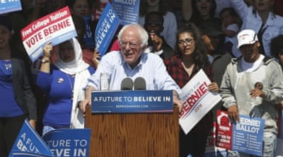 Sanders has vowed to take his campaign all the way to the Democrats' July 25-28 convention in Philadelphia [Rich Pedroncelli/AP]