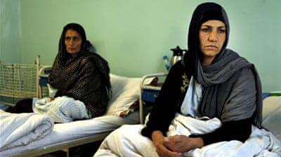 Kobra, right, has had fistula for seven years [Mariam Alimi/Al Jazeera]