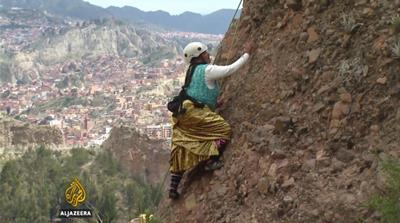 Bolivia's indigenous women scaling new heights