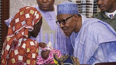 Nigeria's Buhari meets freed Chibok girl Amina