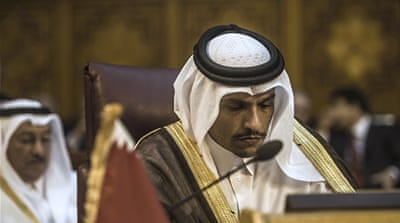 Sheikh Mohammed delivered Qatar's statement [Khaled Desouki/AFP/Getty Images]