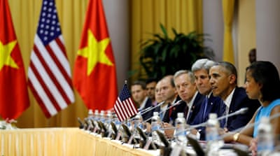 Obama has pressed Vietnam to allow greater freedoms [Carlos Barria/Reuters]
