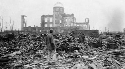 Hiroshima, Japan, a month after an atomic bomb was dropped by the US on Monday, August 6, 1945 [Stanley Troutman/AP]