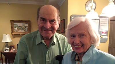 Dr Heimlich with Patty Ris, a fellow resident at a retirement home, whom he saved [Reuters]