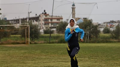 Gaza teenager runs for Palestine