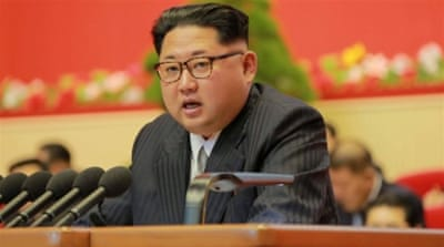 Speaking at the National Workers' Party Congress, in Pyongyang, Kim said that North Korea might be willing to normalise ties with states that had been hostile towards it. [KCNA/via Reuters]
