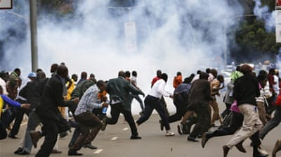 Kenyans protest against electoral body