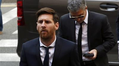Lionel Messi appears in tax-fraud trial in Spain