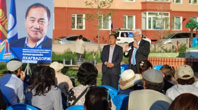 Divided Mongolians vote in hotly contested elections