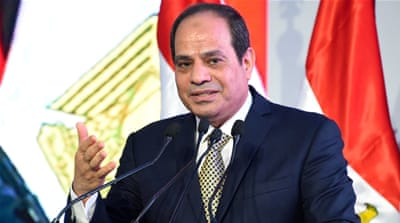 Sisi presents himself as an authority on the dangers of 'Islamist extremism' [File:The Egyptian Presidency via Reuters]