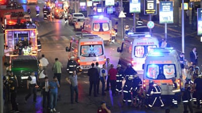 Turkey is in national mourning after at least 42 people were killed in coordinated bombings at Ataturk airport [Osman Orsal/Reuters]