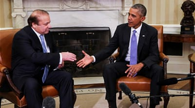 Obama meets with Pakistan's Prime Minister Nawaz Sharif in the Oval Office of the White House last October [Getty]