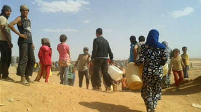 Syrian refugees suffering on Jordan's border