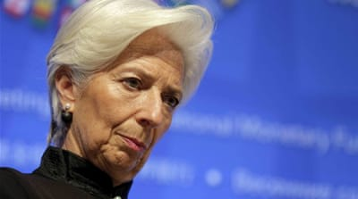 Lagarde will be the third successive IMF chief to face trial [File: Joshua Roberts/Reuters]