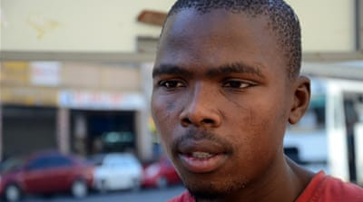 Nhanhla Mjadu, 24, is worried his friend Wanda won't return to the city alive [Azad Essa/Al Jazeera]
