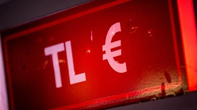 Sign showing acronym for Turkey's lira and European Union's euro [Getty Images]