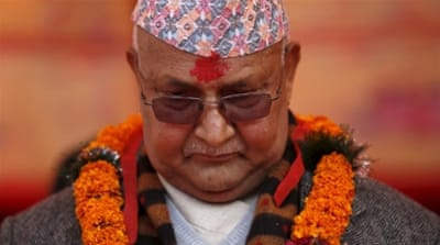 Khadga Prasad Sharma Oli was Nepal's eighth prime minister in the past 10 years [Reuters]