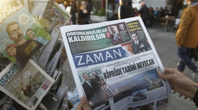 Turkish government has decided to close down dozens of media organisations, including 45 newspapers [Deniz Toprak/ EPA]