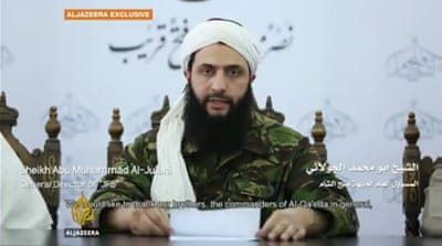 Al-Nusra leader Jolani announces split from al-Qaeda