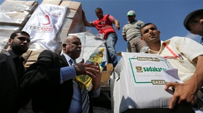 Turkish aid flows into besieged Gaza Strip