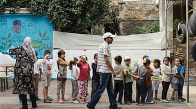 Refugee school gives respite to children in Greek camps