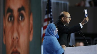 Khizr Khan accused Trump of never having read the constitution [Reuters]