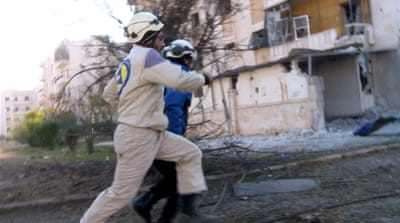A day in the life of Aleppo's White Helmets