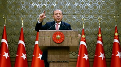 Erdogan says Fethullah Gulen was behind the coup [Kayhan Ozer/Presidential Press Service via AP]