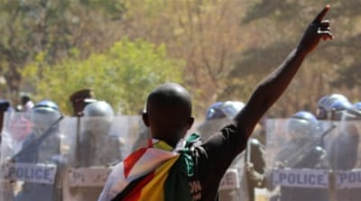 Zimbabwe has seen a mounting tide of violent protests over the past weeks [Philimon Bulawayo/Reuters]