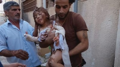 Syrian child 'treated with mud' for severe burn wounds
