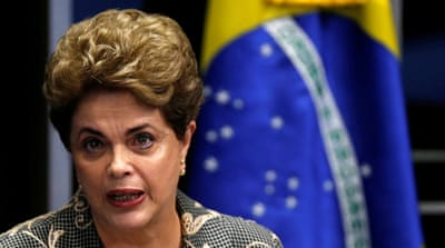Rousseff, 68, defended her record while testifying at her impeachment trial [Ueslei Marcelino/Reuters]