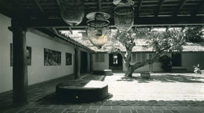 Ena de Silva herself took this old black and white image of her home [Courtesy of Bawa Trust]