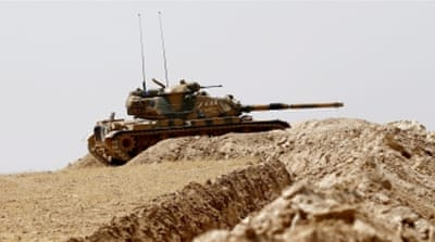 Turkish forces launched a two-pronged operation inside Syria last week [Reuters]