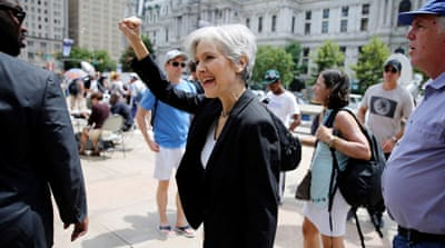 File: Jill Stein does not receive the same level of attention as Trump or Clinton [Dominick Reuter/Reuters]