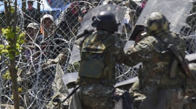 Macedonia built a razor-wire fence along the border with Greece [File: EPA]