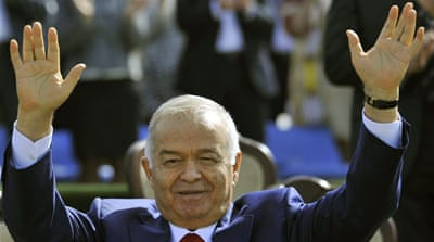 Uzbekistan's President Islam Karimov greets people during the festivities marking the Navruz holiday in Tashkent, Uzbekistan [AP Photo/File]