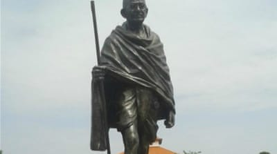Gandhi's statue at the University of Ghana was erected on June 14 [Mantse Aryeequaye]
