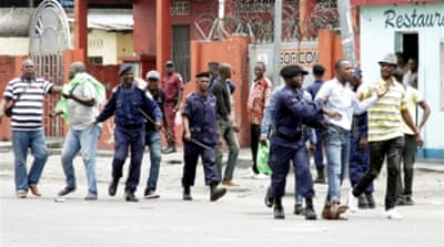 DRC officials vowed to hunt down and punish those responsible for the riots. [The Associated Press]