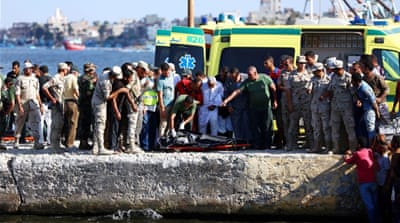 The military said that it had rescued 163 survivors [Mohamed Abd El Ghany/Reuters]