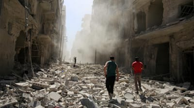 More than 150 air strikes have hit rebel-held areas in Aleppo in the past 72 hours [Reuters]